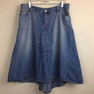 NY JEANS Denim High-Low Skirt